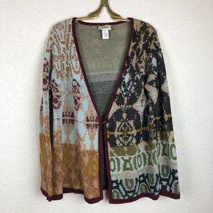 Neiman Marcus Mixed Print medallion Sweater